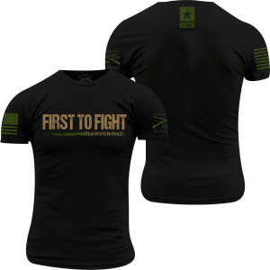 Grunt Style Army - First To Fight T-Shirt - Black
