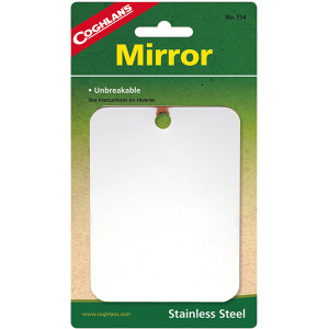 Coghlan's Stainless Steel Mirror, Unbreakable for Travel, Camping, Hiking, Pack