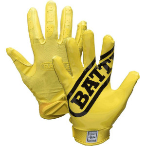 Battle Sports Science Adult DoubleThreat Football Gloves - Yellow/Yellow