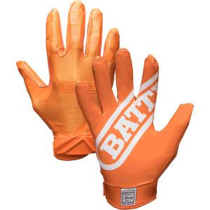 Battle Sports Science Youth DoubleThreat Football Gloves - Orange/Orange