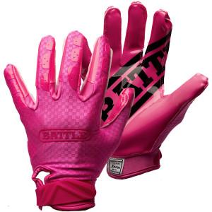 Battle Sports Science Adult TripleThreat UltraTack Football Gloves - Pink