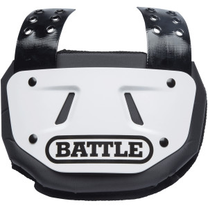 Battle Sports Science Protective Football Back Plate - White/Black