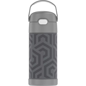 Thermos 12 oz. Kid's Funtainer Insulated Stainless Steel Bottle - Gray Waves
