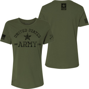 Grunt Style Women's Army - Est. 1775 Relaxed Fit T-Shirt - Military Green