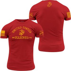 Grunt Style USMC - Est. 1775 T-Shirt - Red