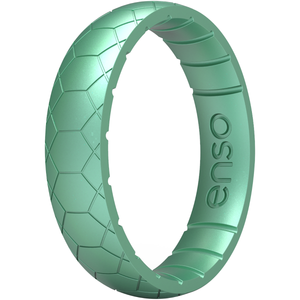 Enso Rings Thin Etched Legends Series Silicone Ring - Medusa Snake