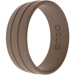 Enso Rings Ultralite Series Silicone Ring - Mocha