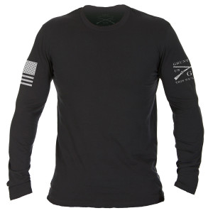 Grunt Style Basic Long Sleeve T-Shirt - Black