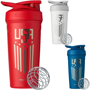 Blender Bottle USA Strada 24 oz. Insulated Stainless Steel Shaker with Loop Top