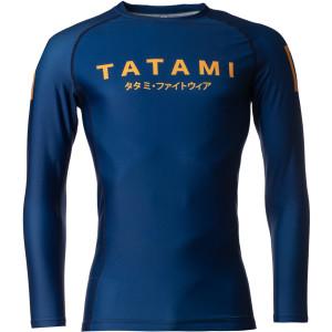 Tatami Fightwear Katakana Long Sleeve Rashguard - Navy