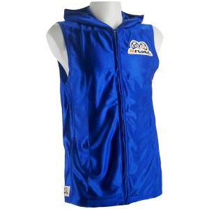 Rival Boxing Dazzle Traditional Sleeveless Ring Jacket with Hood - Blue