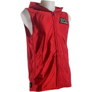 Rival Boxing Dazzle Traditional Sleeveless Ring Jacket with Hood - Red