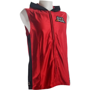 Rival Boxing Dazzle Traditional Sleeveless Ring Jacket with Hood - Red/Black