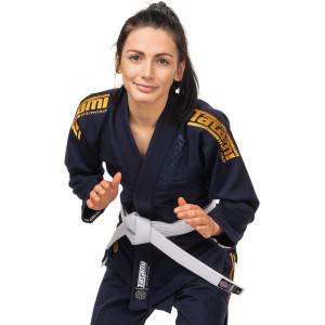 Tatami Fightwear Women's Estilo Black Label BJJ Gi - Gold/Navy