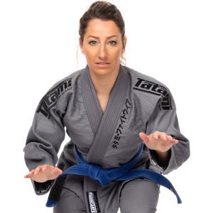 Tatami Fightwear Women's Estilo Black Label BJJ Gi - Black/Gray