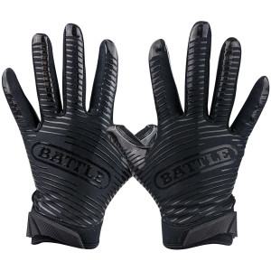 Battle Sports Science Doom 1.0 Youth Football Receiver Gloves - Black