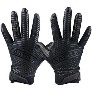 Battle Sports Science Doom 1.0 Adult Football Receiver Gloves - Black