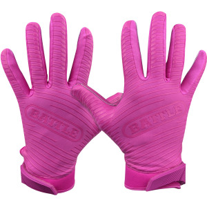 Battle Sports Science Doom 1.0 Adult Football Receiver Gloves - Pink