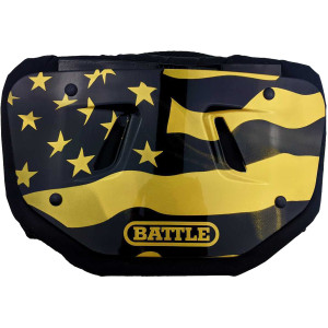 Battle Sports Science American Flag 2.0 Chrome Football Back Plate - Gold