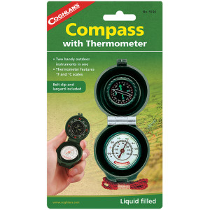 Coghlan's Compass and Thermometer with Lanyard