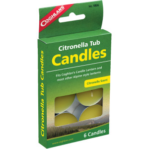 Coghlan's Emergency Citronella Tub Candles - 6-Pack