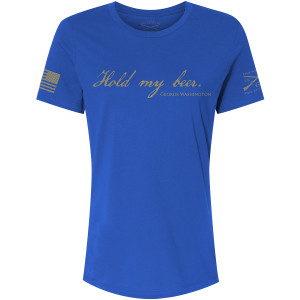 Grunt Style Women's Relaxed Fit Hold My Beer T-Shirt - Royal