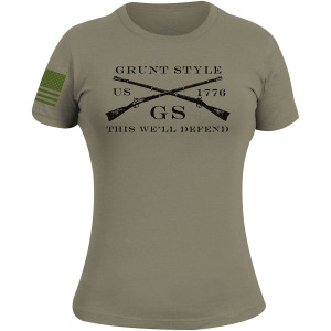 Grunt Style Women's Logo Basic T-Shirt - Military Green