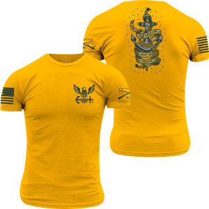 Grunt Style USN - Drop the Anchor T-Shirt - Gold