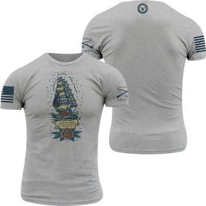 Grunt Style USN - Holdfast Mateys T-Shirt - Athletic Heather
