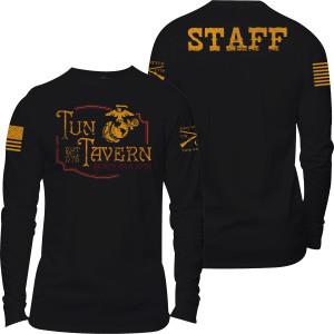 Grunt Style USMC - Tun Tavern Staff Long Sleeve T-Shirt - Black
