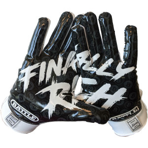 Battle Sports Science Finally Rich 2.0 Adult Football Gloves - White/Black