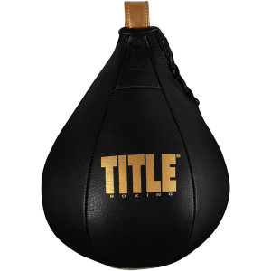 Title Boxing Hightail Leather Speed Bag - Black/Gold