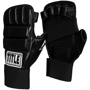 Title Boxing Leather Super Speed Bag Gloves - Black