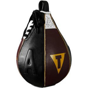 Title Boxing Ali Geniune Leather Speed Bag - Black/Maroon