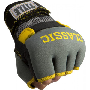 Title Boxing Classic Limited GEL-X Glove Wraps - Gray/Yellow