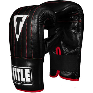 Title Boxing Professional Old School Leather Bag Gloves 3.0 - Black