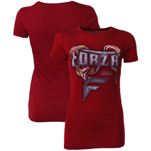 """Forza Sports Women's """"Slither"""" MMA T-Shirt - Scarlet"""