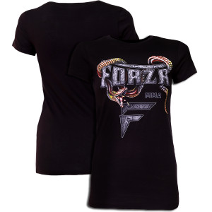 "Forza Sports Women's ""Slither"" MMA T-Shirt - Black"