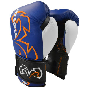Rival Boxing Evolution Hook and Loop Bag Gloves - Blue