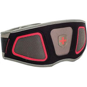 "Harbinger 6"" Contour FlexFit Weight Lifting Belt - Black/Gray/Red"