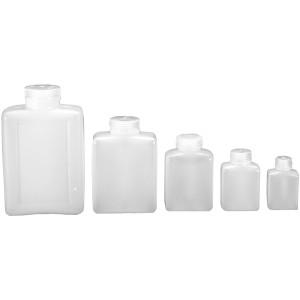Nalgene HDPE Plastic Wide Mouth Rectangular Storage Bottle - Clear