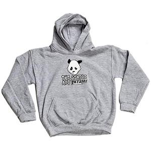 Tatami Fightwear Kid's Gentle Panda Hoodie - Gray