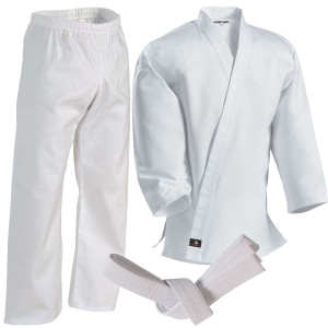 Century 7 oz. Middleweight Student Uniform with Elastic Pant - White
