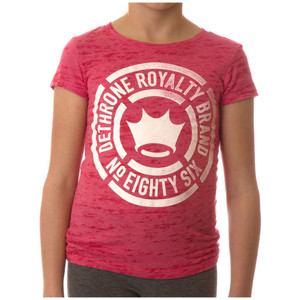 Dethrone Kid's Faded T-Shirt - Pink