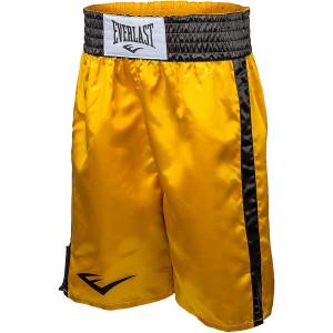 Everlast Standard Bottom of Knee Boxing Trunks - Gold/Black