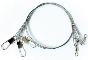"""Eagle Claw Clear/Bright Heavy Duty 6"""" Wire Leaders 3-Pack"""