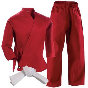 Century 6 oz. Lightweight Student Uniform with Elastic Pants - Red
