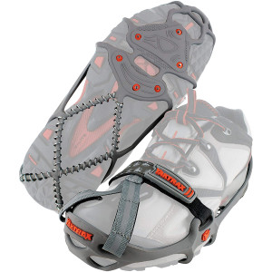 Yaktrax Run Winter Traction Cleats for Snow and Ice - Gray