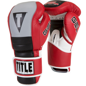 Fit Hook and Loop Bag Gloves - Red/Gray/Black