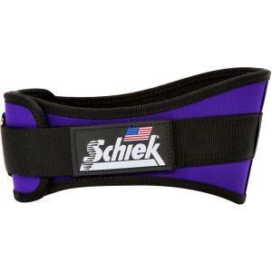 "Schiek Sports Model 2006 Nylon 6"" Weight Lifting Belt - Purple"